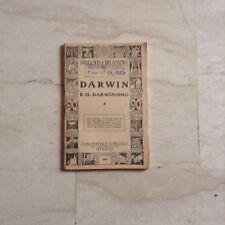 Libretto Darwin e il Darwinismo Bibblioteca del popolo Sonzogno