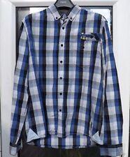 Gio Goi Mens button down shirt HASC-88.AD 118-135.BPM/ Blue check / Size Medium