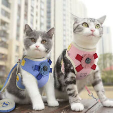 Nylon Pet Harness and Leash Mesh Dog Cat Walking Vest Cute Small Puppy Clothes