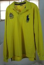 polo ralph lauren R.L. county riders and jockey club vii yellow long sleeve XL