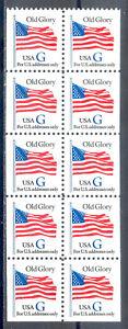 """US Stamp (L136) Scott# 2884a, Mint NH OG, Blue """"G"""" Booklet Pane"""
