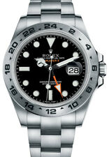 216570-BLACK New Rolex Explorer II GMT Stainless Steel Men's Watch
