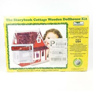 Green Leaf Storybook Cottage Wooden Doolhouse Kit 1983
