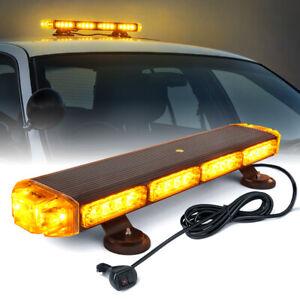 """Xprite 21"""" Amber LED Strobe Light Bar Traffic Advisor Rooftop Emergency Warning"""