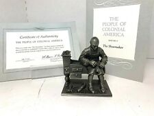 1975 Franklin Mint 'Pewter Figurines - The Shoemaker - People of Colonial'