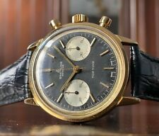 1960s Breitling Top Time Chronograph watch, Gold Plated, Ref 2000, Reverse Panda