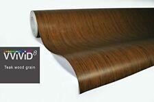 Teak Wood Grain Faux Finish Textured Vinyl Wrap Contact Paper