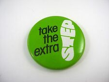 Vintage Collectible Button: Take the Extra Step Shoe Design Green