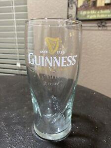 "Guinness Pint Beer Glass Glasses 16 oz Harp 6.25"" Tall Pub Bar ""I'll do it now"""