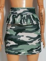 MATTEL GREEN CAMOUFLAGE SKIRT BARBIE FASHIONISTAS FASHION CLOTHES