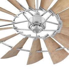 "Quorum Windmill Ceiling Fan 197215-9 Indoor/Outdoor 72"" Galvanized Damp Rated"