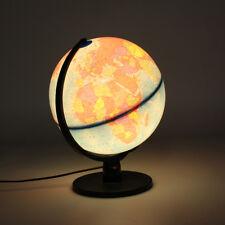 "12"" Illuminated Night Light World Earth Globe Rotating Desktop Decoration"