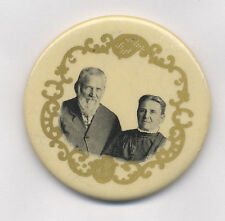 DR. SCHOLL & WIFE READING, PA. LEBANON DENTAL ASSOC. DINNER MAY 17TH 1904 BUTTON