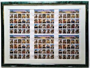 1994 Legends of the West 32¢ Press Sheet 6 Planes Framed, Signed & COA, SC #2869