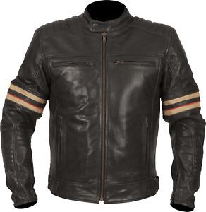 Weise Detroit Motorcycle Motorbike Leather Jacket Black