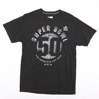 NFL 2016 Super Bowl San Francisco Bay Area Black T-Shirt Men's Size Large