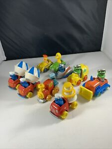 LOT of 9 Vintage 1980s Sesame Street Muppets Die-Cast Cars Asst Characters