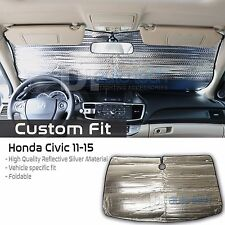 Custom Fit Windshield Sun Shade Block Visor UV Protection 2011-2015 Civic
