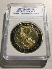 United States Secret Service Counter Sniper Team Challenge Coin 40mm w/Case G-13