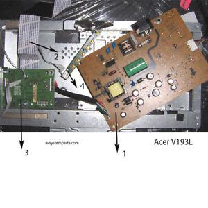 "ACER V193L 19"" LCD MONITOR PARTS: Main BoardE157925,Power Supply E162032"