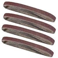 20Pcs Sanding Belts 13mm X 457mm 40 60 80 120 Mixed Grit Alumina Sander File Set
