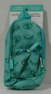 Yoobi Mini Backpack Pencil Case Aqua Chevron, NEW with tags