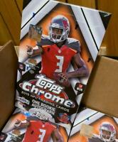 2015 Topps Chrome Football Hobby Box Factory Sealed from sealed case