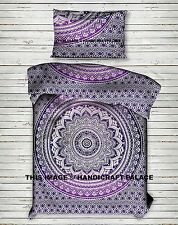 Hippie Ombre Mandala Twin Size Duvet Doona Cover Indian Bedding Quilt Cover Set