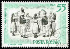 Scott # 1826 - 1965 - ' Folk Dances of Maramaros '; Center in Black
