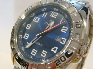 Genuine New Men's FESTINA Quartz Watch Blue Steel F16495/3