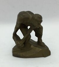 BRASS Russian STATUE USSR Figurine Monument Cobblestone Weapon Of Proletariat