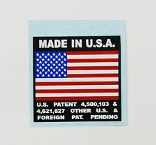 KLEIN Flag Decal ~ Made In U.S.A. Flag Decal ~ Reproduction Flag Decal