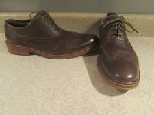 COLE HAAN 10.5 M AIR MADISON CIGAR LEATHER WINGTIP BROGUE DRESS OXFORD SHOES N/R