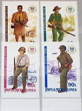 PAPUA NEUGUINEA NEW GUINEA 1992 659-62 790-93 Soldiers WWII Uniforms War MNH