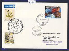 57628) AUA Olympiade SF Wien - Peking China 8.8.2008, cover New Zealand RR!
