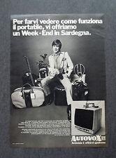 F607 - Advertising Pubblicità - 1970 - AUTOVOX TELEVISORE PORTATILE