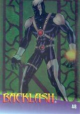MARVEL VS WILDSTORM 1997 FLEER CLEARCHROME INSERT CARD A8 BACKLASH MA