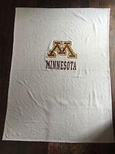 "Vintage Rare University of MINNESOTA Grey Cotton Blanket/Throw 52"" x 71"""