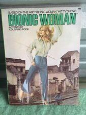 Bionic Woman adventure Coloring Book 1976 TV HTF Unused Old Store Stock!