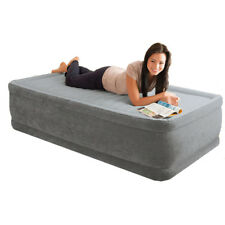 Intex Comfort Plush Raised Single Size Airbed with Built in Electric Pump #64412