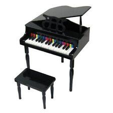 30 Keys Child's Baby Grand Piano with Bench Black (CB2)