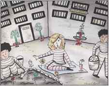 "Martha Stewart ""Prison Collection"" (watercolor)"