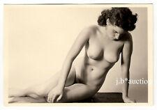#926 ROESSLER AKTFOTO / NUDE WOMAN STUDY * Vintage 1950s Studio Photo - no PC !