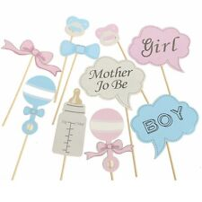 ~*~Baby Shower BOY & GIRL Photo Booth Props 11 Pieces AUSSIE SELLER~*~Decoration