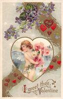 D80/ Valentine's Day Love Holiday Postcard c1910 Wellsville Ohio Spider Webs 5