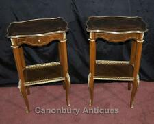 Pair French Empire Side Tables Cocktail Furniture Kingwood