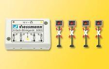 SH Viessmann 5800 Andreaskreuze 4 Stück mit Blinkelektronik Spur N