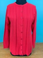 Vintage Jenny Women's Cardigan Sweater - Size Small - Red