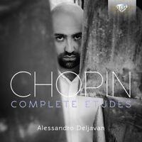 ALESSANDRO DELJAVAN - COMPLETE ETUDES OP.10 & 25  CD NEW! FREDERIC CHOPIN