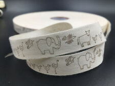 5 Yards animal Cotton Ribbon Design Home Party Decor DIY Sewing Craft 15mm